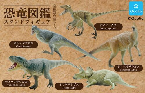 恐竜図鑑 スタンドフィギュア
